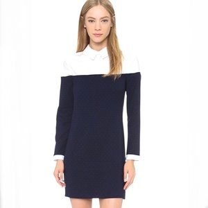 ENGLISH FACTORY Color Block Collar Dress